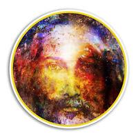 2 x 10cm Jesus Vinyl Stickers - Christian Religion Sticker Laptop Luggage #8451