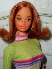 Vintage Barbie QUICK CURL KELLEY DOLL in MODERN STRIPED SWEATER DRESS & HEELS