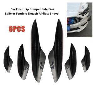6XCar Front Lip Bumper Side Fins Splitter Fenders Detach Airflow Shovel General