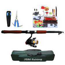 2.1M/2.4M Portable Telescope Fishing Rod Plier Lure Kit Combos With Reel Bags