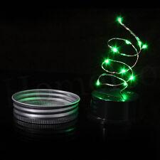 LED Color Changing Fairy Light Solar Mason Jar Garden Decor Solar Lights Lamps
