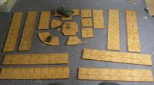 Roads of Stone Cobble Slab Scenery for Wargames 15mm 20mm 28mm MDF