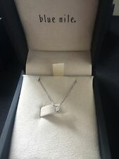 Blue Nile diamond necklace,white gold