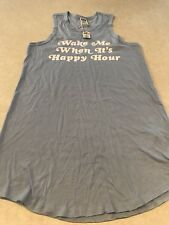 9fa2d387c32d38 Victoria s Secret Pink Sleep T Shirt Tank Happy Hour Lounge Top Blue Small