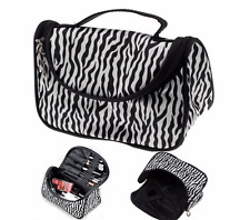 Lady Cosmetic Nail Art Tool Bag Makeup Case Toiletry Holder Storage Zebra ga