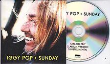 IGGY POP SUNDAY RARE 3 TRACK PROMO CD BARGAIN!