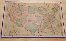 ANTIQUE/VINTAGE WOODEN JIGSAW PUZZLE USA/WORLD MAPS! CIVIL WAR ERA W/PROVENANCE