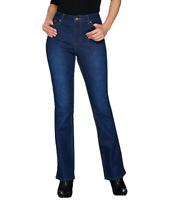 Isaac Mizrahi Live! TRUE DENIM Regular Boot Cut Jeans Color Dark Indigo Plus 18