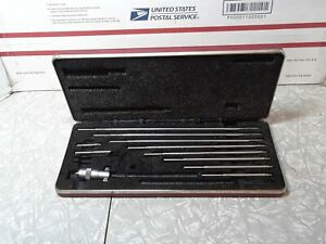 Starrett No. 124 Machinist Inside Micrometer Set in Case