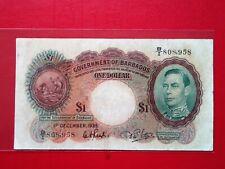 1939 BARBADOS 1 DOLLAR @ CIR