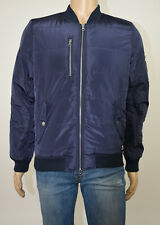 WeSC Mens Navy Race Quilted Padded Bomber Jacket S