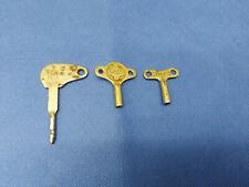 Aufzugsschlüssel für Blechspielzeug 3-tlg. Set: Schüco 2; Göso; Shes 3L1X