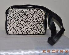 Genuine Leather & Horse Hair Handbag - Purse Black & White Excellent Condition.