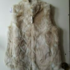 Blonde Faux Fur Collared Vest With Hook and Eye Front Close Jack by BB Dakota