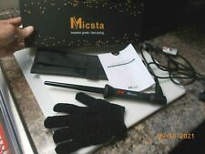 """Micsta Model MJ16-SC Curling Iron (3/8"""" - 3/4""""), Appears Unused With Glove & Box"""