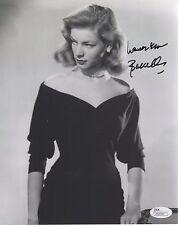 Lauren Bacall Hand Signed 8x10 Photo Glamorous Hollywood Legend Jsa