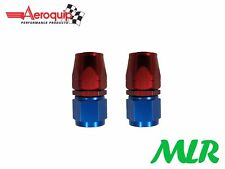 AEROQUIP AN -6 JIC STRAIGHT FEMALE FUEL HOSE PIPE FITTING UNION FBM1012 PAIR