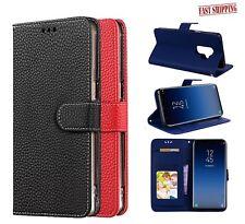 For S9 Plus Samsung galaxy s9 plus Leather Flip folio case Cover Ship Fast