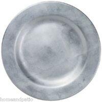 "Merritt Silver Foil Holiday Sparkle 15"" Round Melamine Charger Serving Platter"