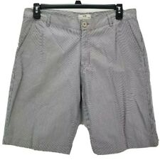 Kiwi Extra Large Mens Casual Shorts Blue Striped Flat Front Pockets 100% Cotton