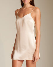 La Perla Dolce Collection S 100% Silk Chemise Ivory Classic Simple Elegant New