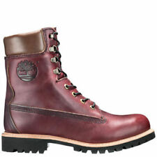"""TIMBERLAND MADE IN THE USA 8"""" inch Premium Waterproof Boots Mens Burgundy A1JXM"""