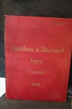 CATALOGUE 1906 GENTHON & DANSARD FOURNITURES GÉNÉRALES ÉBÉNISTERIE & TAPISSERIE