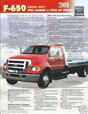 Truck Brochure - Ford - F-650 - Super Duty Pro Loader Kick Up Frame 2008 (T1313)