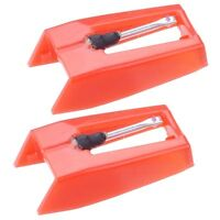 Set of 2 Replacement Stylus Turntable Needle for Vinyl Record Player Ruby Tipped