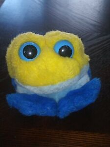 Swibco Puffkins Winky The Yellow Frog Bean Bag Plush Toy