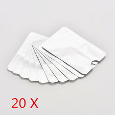 20xFor RFID Secure Protector Blocking ID Credit Card Sleeves Holders Case Skins.