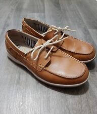 CLARKS MENS BOAT SHOES SIZE UK 8 EU 42 LEATHER,TAN,BROWN,DECK,FLAT,ORTHO,EXC