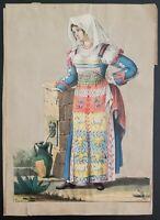 Litografia: Regno di Napoli Costume II metà '800 (M32) Come da foto