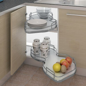 Nuvola Kitchen Corner Pull Out Shelving Unit+Railing For 1000mm Kitchen Cabinet