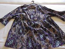 Bluse,lila,paisley,gr.54,neuwertig,absolut schön