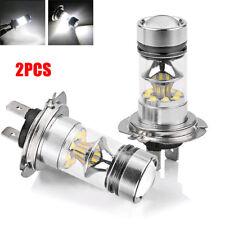 2x Super Bright White H7 100W CREE LED Fog DRL Driving Car Head Light Lamp Bulb