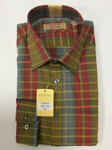 Gurteen Mens Multi check shirt, 100% cotton many sizes RRP £45.00 Ours £19.95