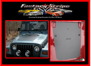 1997-2006 JEEP TJ HOOD BLACKOUT PANEL VINYL DECAL SUN BLOCK AUTOMOTIVE GRAPHIC