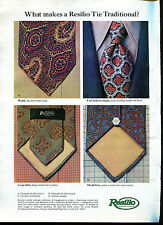 1969 Resilio Traditional Neckwear Tie Print Ad