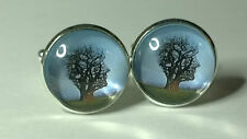 "Pink Floyd ""Tree of Half Life"" Glass Domed Cufflinks"