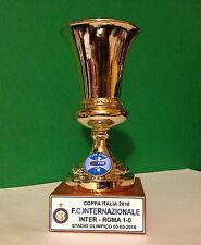 """INTER FC MINIATURA """"COPPA ITALIA 2010"""" RESINA GALVANICA ORO/ARGENTO"""