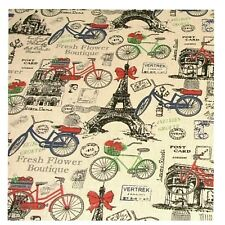 "Paris Canvas"" Linen Cotton Fabric Curtain Upholstery Quilting Craft"