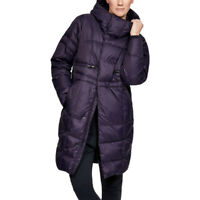 Under Armour Womens UA Down Parka Purple Sports Outdoors Full Zip Hooded Warm