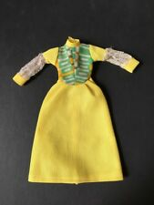 """70s MEGO Dinah Mite Brocade Beauty 1432 yellow dress variant fit 8"""" doll HTF"""