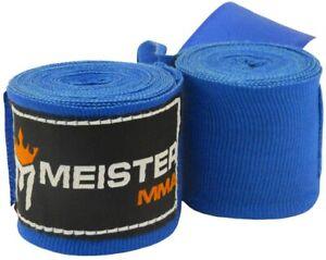 MMA Meister 275cm Junior Elasticity Cotton bandage Blue