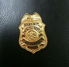 Vintage Anaheim CA Junior Fireman Badge