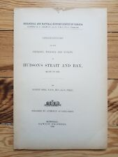 Hudson's Strait and Bay, Geology, Zoology, Botany, 1885, Canadian Natural Reso