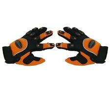 Paire de gants moto enduro / motocross taille M , orange, noir