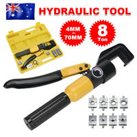 8 Ton 9 Dies 4-70mm Hydraulic Crimper Wire Terminal Cable Force Crimping Tools