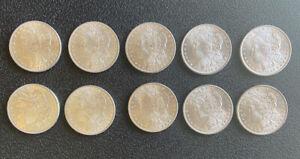 Lot of 10 Morgan Dollars all CHOICE Uncirculated 7-1886 & 3- 1898
